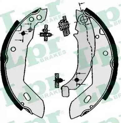 LPR 04670 - Setul de frânare, frâne cu tambur reperautotrans.ro