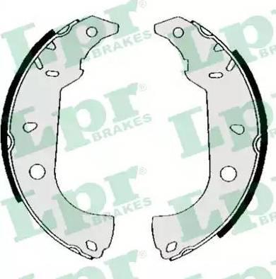 LPR 04860 - Setul de frânare, frâne cu tambur reperautotrans.ro