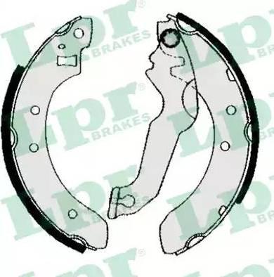 LPR 04800 - Setul de frânare, frâne cu tambur reperautotrans.ro