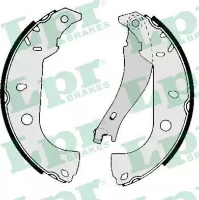 LPR 05050 - Setul de frânare, frâne cu tambur reperautotrans.ro