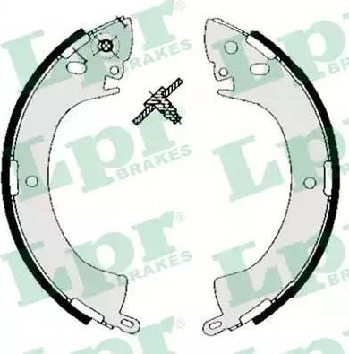 LPR 05240 - Setul de franare, frane cu tambur reperautotrans.ro