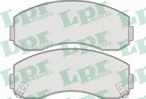 LPR 05P1007 - Set placute frana, frana disc reperautotrans.ro