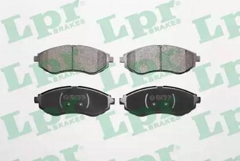 LPR 05P1080 - Set placute frana, frana disc reperautotrans.ro