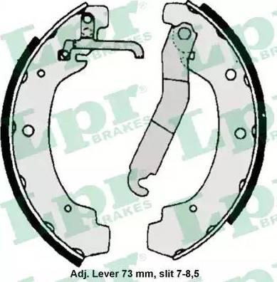 LPR 06740 - Setul de franare, frane cu tambur reperautotrans.ro