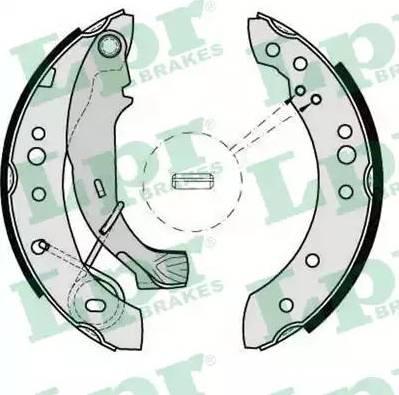 LPR 08150 - Setul de frânare, frâne cu tambur reperautotrans.ro