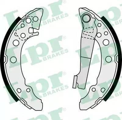 LPR 07940 - Setul de frânare, frâne cu tambur reperautotrans.ro