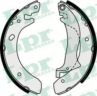 LPR 07510 - Setul de frânare, frâne cu tambur reperautotrans.ro