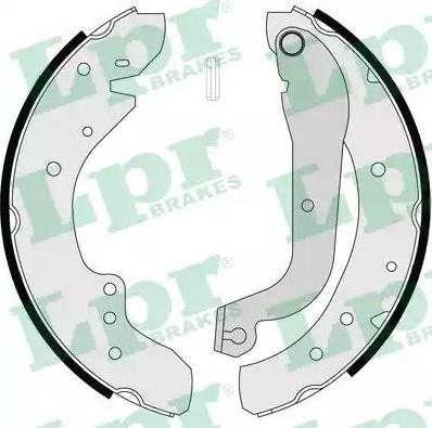 LPR 07105 - Setul de frânare, frâne cu tambur reperautotrans.ro