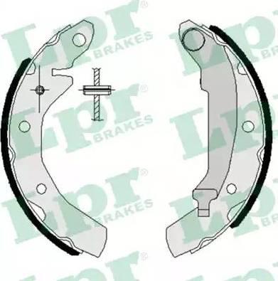 LPR 07260 - Setul de frânare, frâne cu tambur reperautotrans.ro