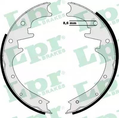 LPR 07205 - Setul de franare, frane cu tambur reperautotrans.ro