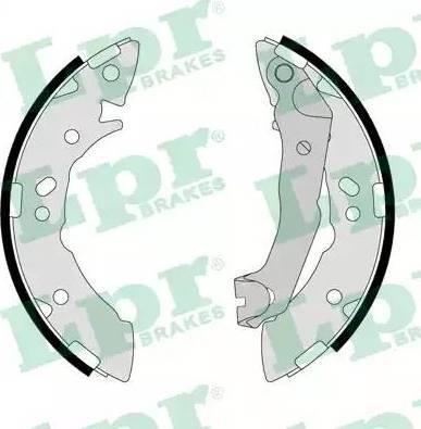LPR 07710 - Setul de franare, frane cu tambur reperautotrans.ro