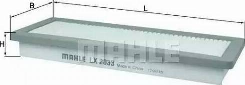 Mahle Original LX 2033 - Filtru aer reperautotrans.ro