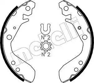 Metelli 53-0158 - Setul de franare, frane cu tambur reperautotrans.ro