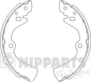 Nipparts J3501034 - Setul de franare, frane cu tambur reperautotrans.ro