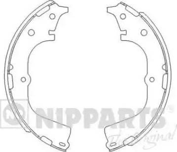 Nipparts J3502046 - Setul de frânare, frâne cu tambur reperautotrans.ro