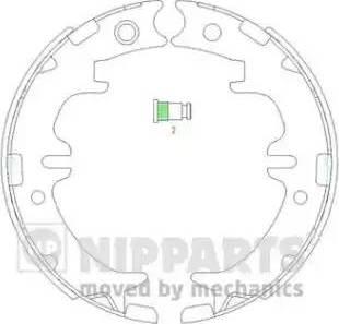 Nipparts N3502083 - Set saboti frana, frana de mana reperautotrans.ro