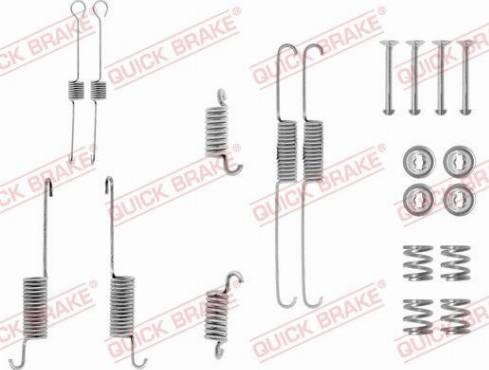 OJD Quick Brake 1050615 - Set accesorii, sabot de frana reperautotrans.ro