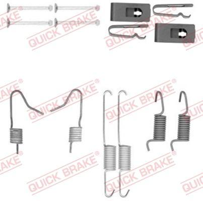 OJD Quick Brake 105-0898 - Set accesorii, saboti frana parcare reperautotrans.ro