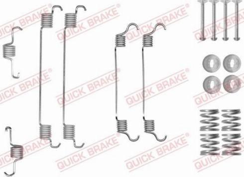 OJD Quick Brake 1050820 - Set accesorii, sabot de frana reperautotrans.ro