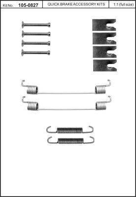 OJD Quick Brake 1050827 - Set accesorii, sabot de frana reperautotrans.ro