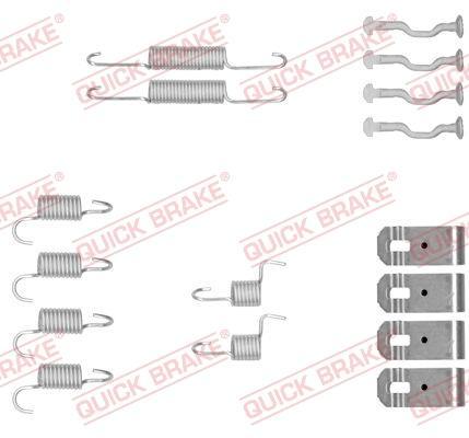 OJD Quick Brake 1050876 - Set accesorii, saboti frana parcare reperautotrans.ro