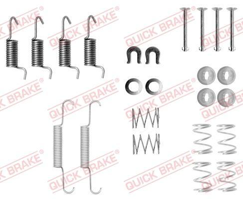 OJD Quick Brake 1050871 - Set accesorii, saboti frana parcare reperautotrans.ro