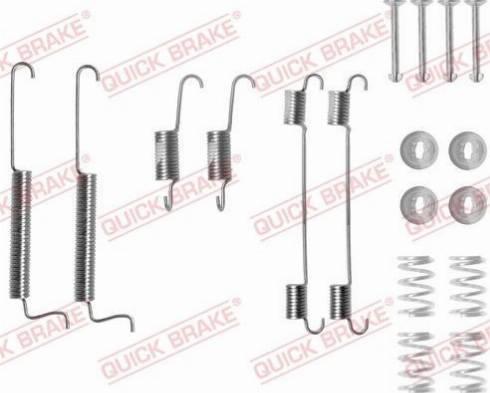 OJD Quick Brake 1050795 - Set accesorii, sabot de frana reperautotrans.ro