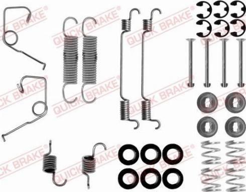 OJD Quick Brake 1050705 - Set accesorii, sabot de frana reperautotrans.ro