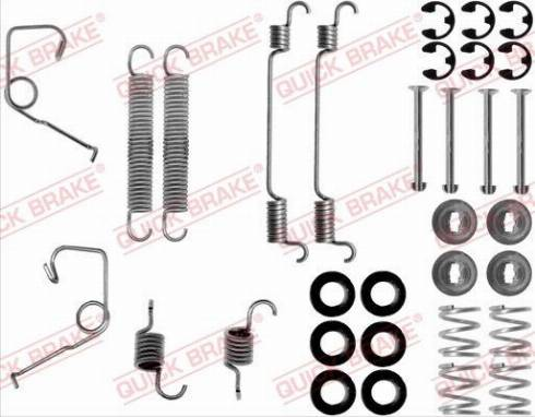 OJD Quick Brake 1050706 - Set accesorii, sabot de frana reperautotrans.ro