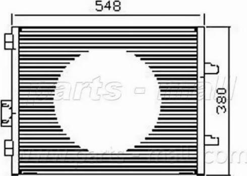 Parts-Mall PXNCX-058Y - Condensator, climatizare reperautotrans.ro