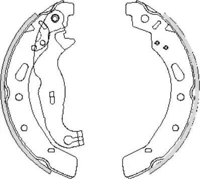 Remsa 4242.00 - Setul de frânare, frâne cu tambur reperautotrans.ro