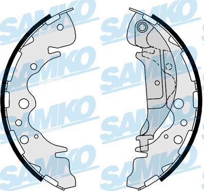 Samko 81025 - Setul de franare, frane cu tambur reperautotrans.ro