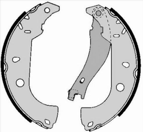 Starline BC 05050 - Setul de franare, frane cu tambur reperautotrans.ro