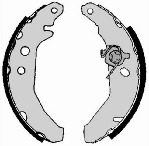 Starline BC 05740 - Setul de franare, frane cu tambur reperautotrans.ro