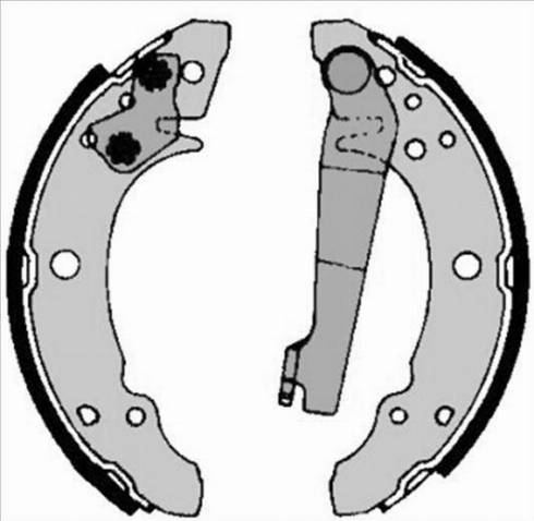 Starline BC 00140 - Setul de frânare, frâne cu tambur reperautotrans.ro