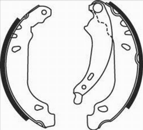 Starline BC 07490 - Setul de franare, frane cu tambur reperautotrans.ro