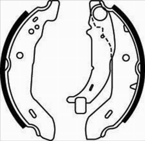 Starline BC 07480 - Setul de frânare, frâne cu tambur reperautotrans.ro