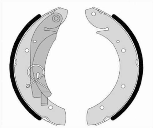 Starline BC 07420 - Setul de franare, frane cu tambur reperautotrans.ro