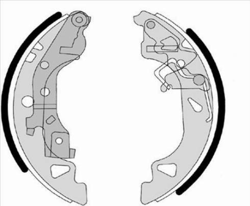 Starline BC 07680 - Setul de frânare, frâne cu tambur reperautotrans.ro