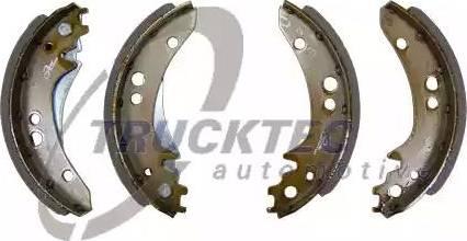 Trucktec Automotive 02.35.502 - Set garnituri de frictiune, frana tambur reperautotrans.ro