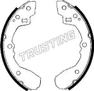 Trusting 049.122 - Setul de frânare, frâne cu tambur reperautotrans.ro