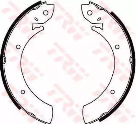 TRW GS6181 - Setul de frânare, frâne cu tambur reperautotrans.ro