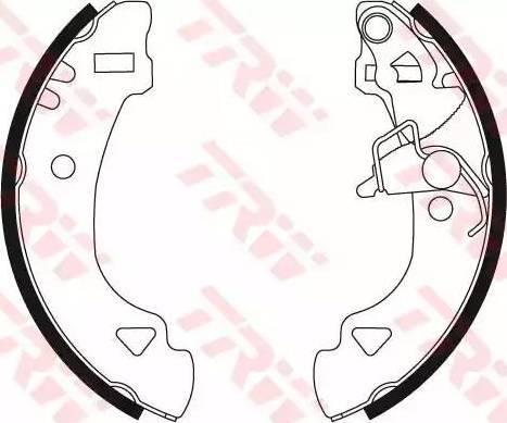 TRW GS8566 - Setul de frânare, frâne cu tambur reperautotrans.ro