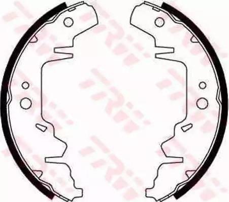 TRW GS8643 - Setul de frânare, frâne cu tambur reperautotrans.ro