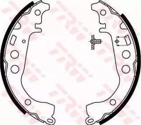TRW GS8673 - Setul de franare, frane cu tambur reperautotrans.ro