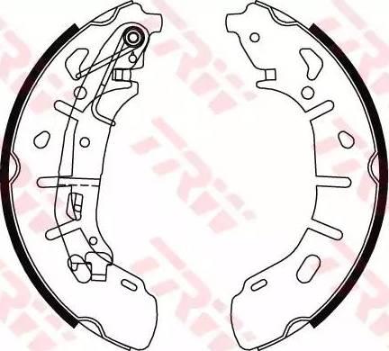 TRW GS8799 - Setul de franare, frane cu tambur reperautotrans.ro