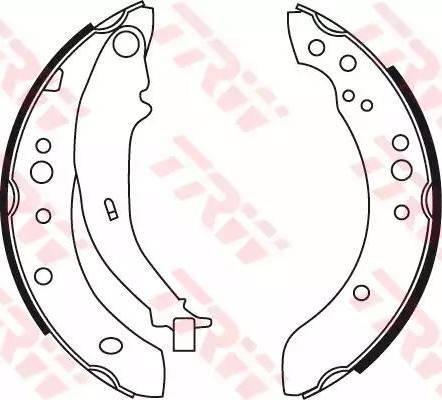 TRW GS8769 - Setul de franare, frane cu tambur reperautotrans.ro