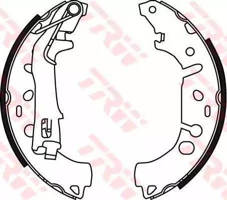 TRW GS8719 - Setul de frânare, frâne cu tambur reperautotrans.ro