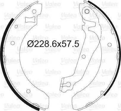 Valeo 562031 - Setul de frânare, frâne cu tambur reperautotrans.ro