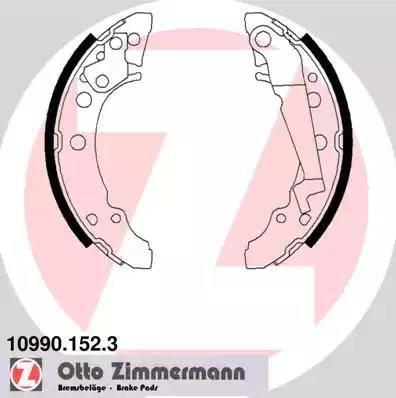 Zimmermann 10990.152.3 - Setul de frânare, frâne cu tambur reperautotrans.ro